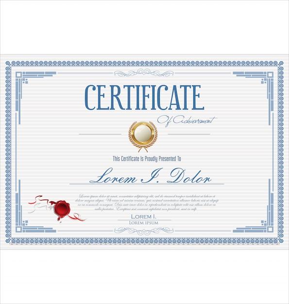 Świadectwa lub dyplomu retro rocznika szablon Premium Wektorów