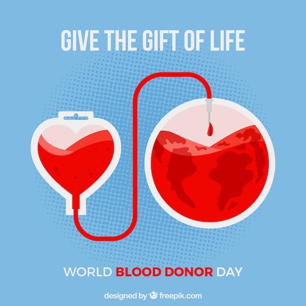 Świat Donnor Dzień Krwi Z Motywacyjnego Cytatu Darmowych Wektorów