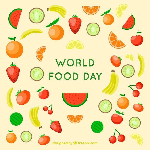Świat Tle żywności Dzień Darmowych Wektorów