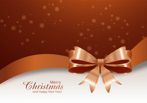 Świąteczna Kartka świąteczna Na Tle Błyszczącej Wstążki Darmowych Wektorów