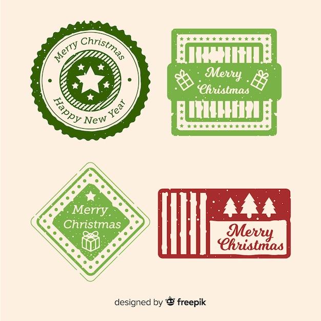 Świąteczna kolekcja znaczków Darmowych Wektorów