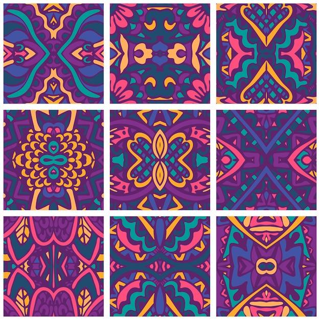 Świąteczna Kolorowa Tapeta. Psychodeliczna Bezszwowa Dekoracja. Premium Wektorów