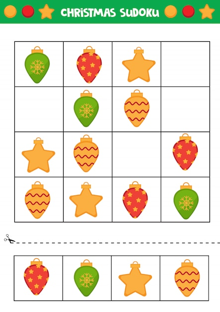 Świąteczne Sudoku Premium Wektorów