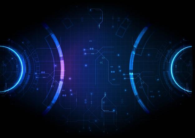 Światło Dwukierunkowe Technologia Cyfrowa Bacground Premium Wektorów