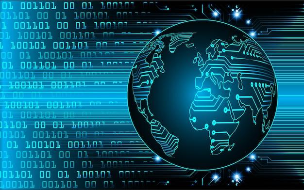 Światowa Binarna Płytka Drukowana Technologia Przyszłości, Niebieskie Tło Koncepcji Bezpieczeństwa Cybernetycznego Hud Premium Wektorów