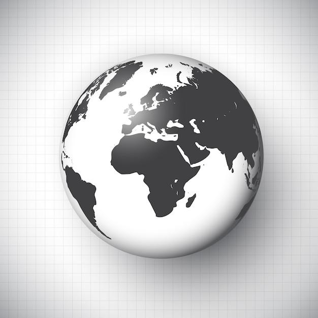 Światowa Kula Ziemska Darmowych Wektorów