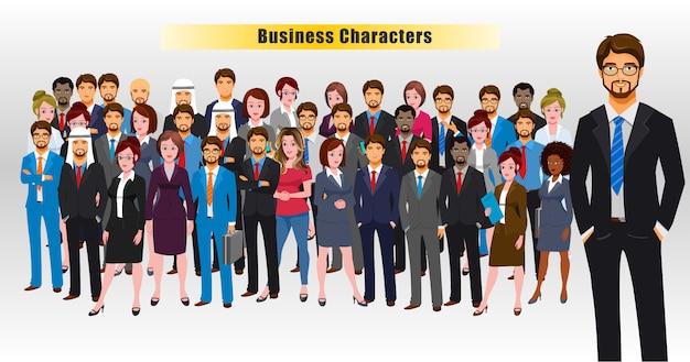 Światowi ludzie biznesu Premium Wektorów