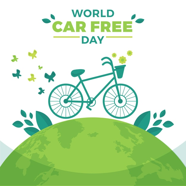 Światowy Dzień Bez Samochodu Darmowych Wektorów