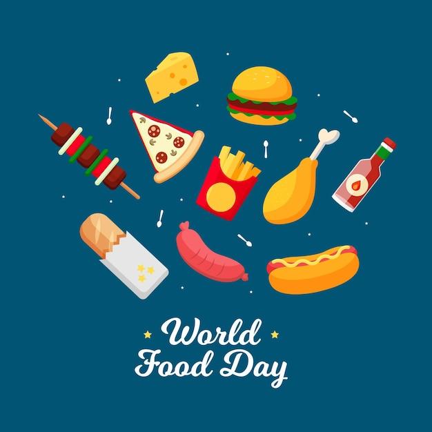 Światowy Dzień Fast Foodów Darmowych Wektorów