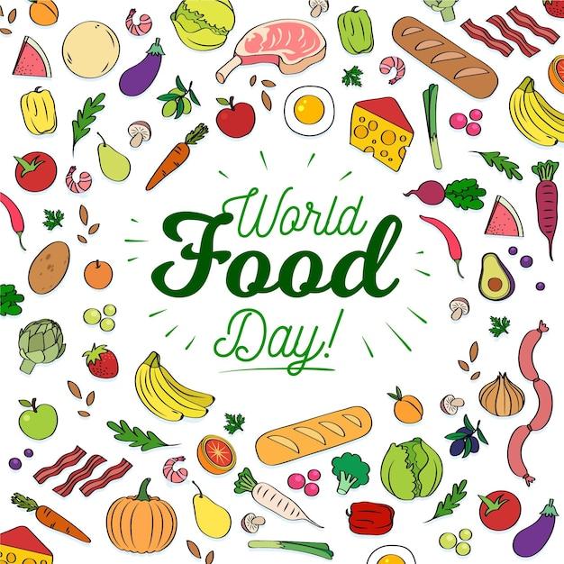 Światowy Dzień Jedzenia Premium Wektorów