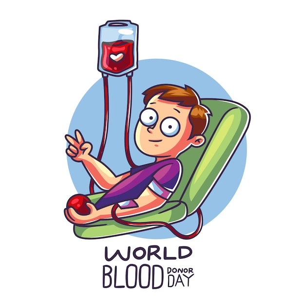 Światowy dzień krwiodawcy Premium Wektorów