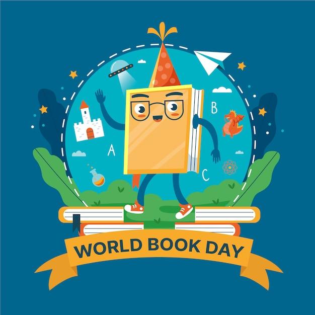 Światowy Dzień Książki Ilustrowany Charakter Darmowych Wektorów
