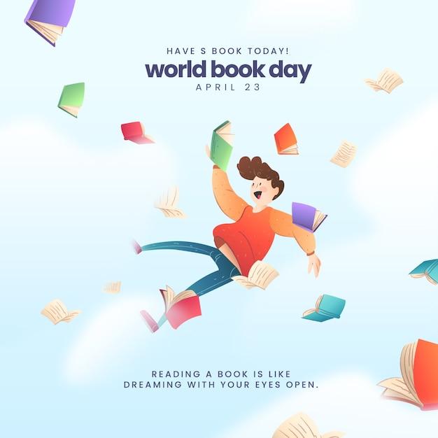 Światowy Dzień Książki Tło Darmowych Wektorów