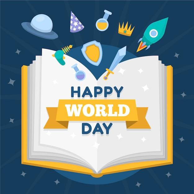 Światowy Dzień Książki Darmowych Wektorów