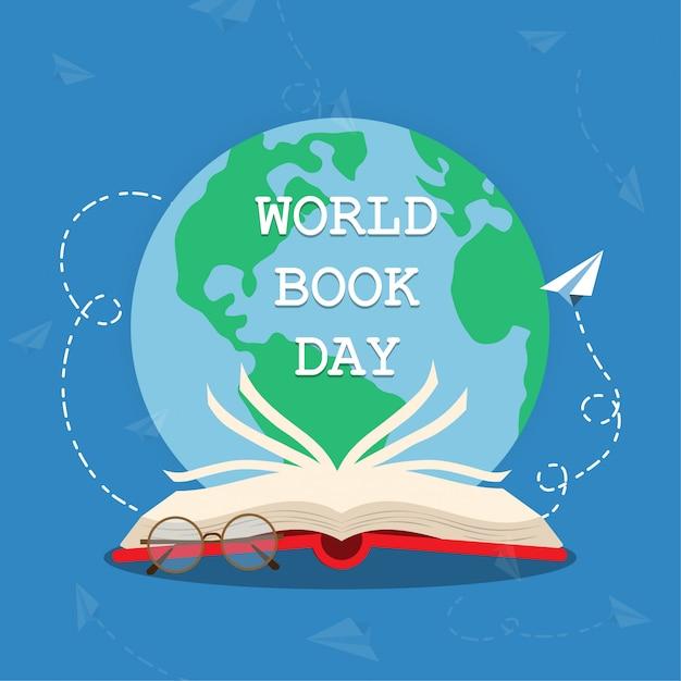 Światowy dzień książki Premium Wektorów