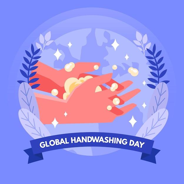 Światowy Dzień Mycia Rąk Darmowych Wektorów