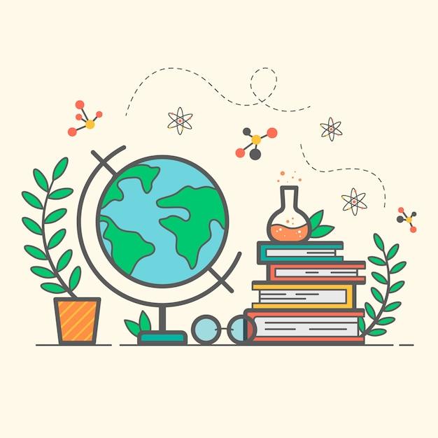 Światowy dzień nauczyciela w stylu płaskiej Premium Wektorów