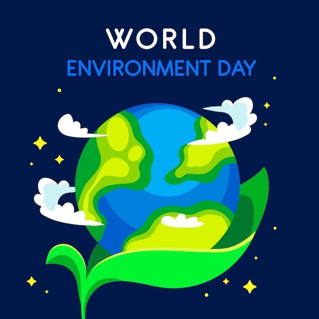 Światowy Dzień Ochrony środowiska Z Sadzonką Darmowych Wektorów