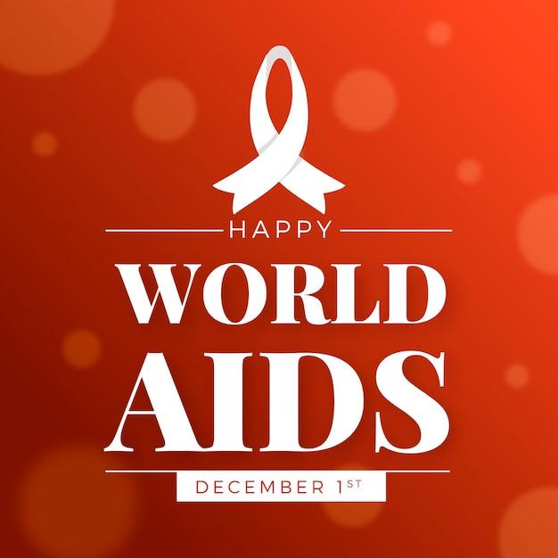 Światowy Dzień Pomocy W Płaskiej Konstrukcji Darmowych Wektorów