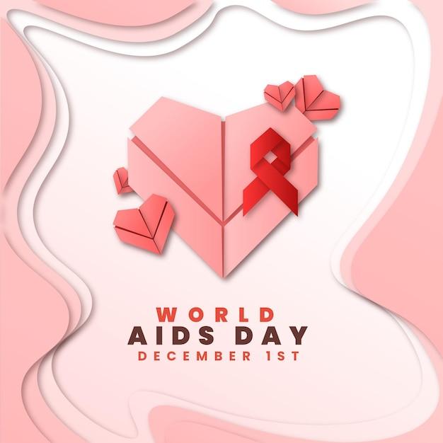 Światowy Dzień Pomocy W Stylu Papierowym Darmowych Wektorów