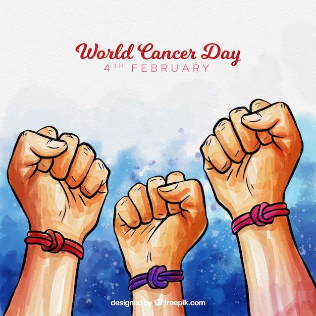 Światowy dzień raka rak akwarelowy Darmowych Wektorów