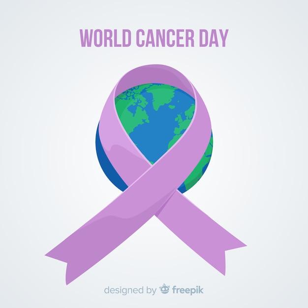 Światowy Dzień Raka Tło Darmowych Wektorów
