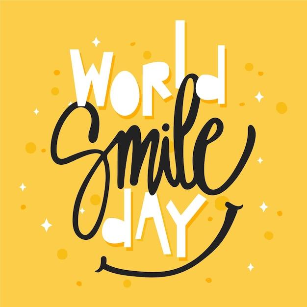 Światowy Dzień Uśmiechu - Napis Darmowych Wektorów