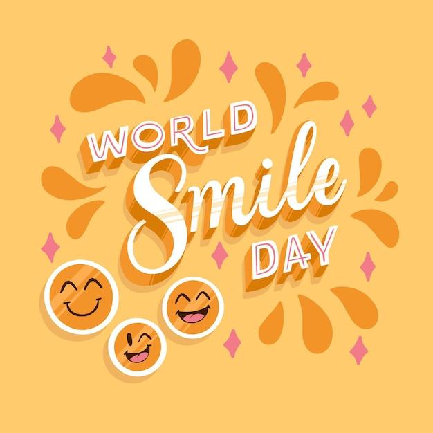 Światowy Dzień Uśmiechu Z Gwiazdami Darmowych Wektorów