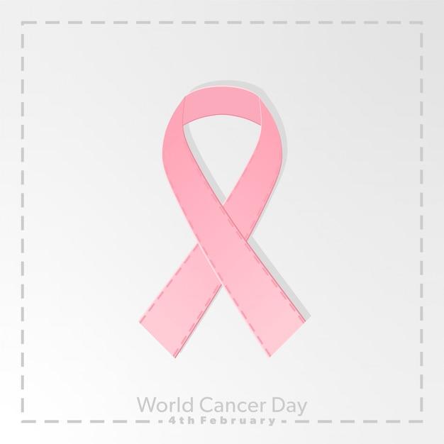 Światowy dzień walki z rakiem Premium Wektorów