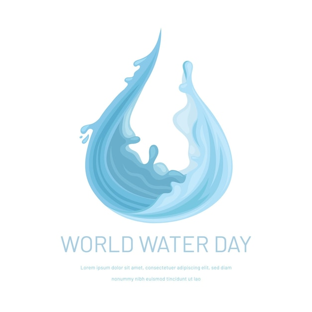 Światowy Dzień Wody Darmowych Wektorów
