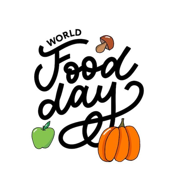 Światowy dzień żywności Premium Wektorów