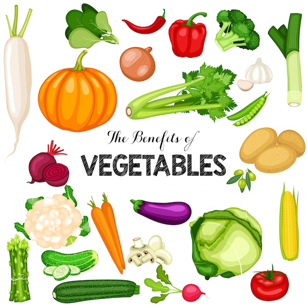 Światowy Plakat Dzień Wegańskie Z Płaskim Tle Warzyw Premium Wektorów