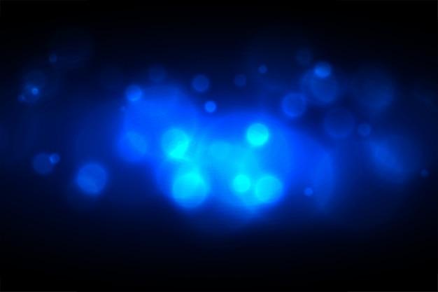 Świecące Niebieskie Efekt świetlny Projekt Bokeh Darmowych Wektorów