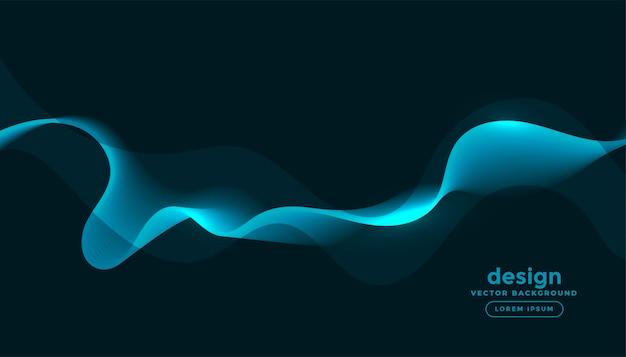 Świecące Niebieskie Fale Krzywe Streszczenie Tło Darmowych Wektorów