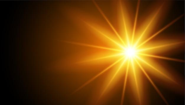 Świecące Promienie Efekt świetlny Na Czarno Darmowych Wektorów