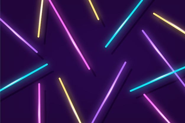 Świecące światła Neonowe Tło Darmowych Wektorów