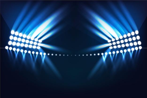 Świecący Efekt świetlny Stadionu Darmowych Wektorów