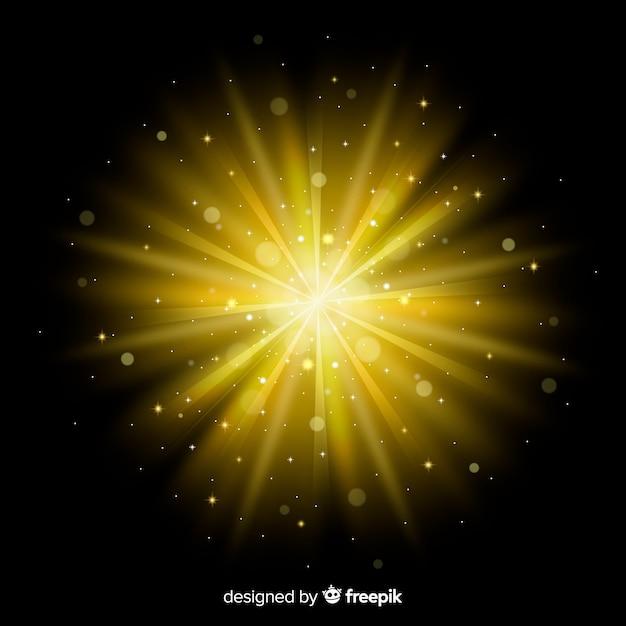 Świecący efekt świetlny wschodu słońca Darmowych Wektorów