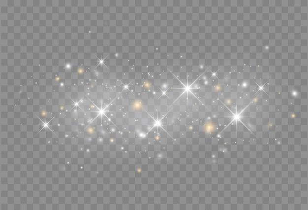Świecący Efekt świetlny Z Pojedynczymi Cząsteczkami Brokatu Premium Wektorów