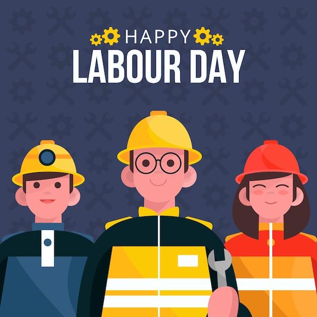 Święta Pracy Powitanie Z Ilustracją Darmowych Wektorów