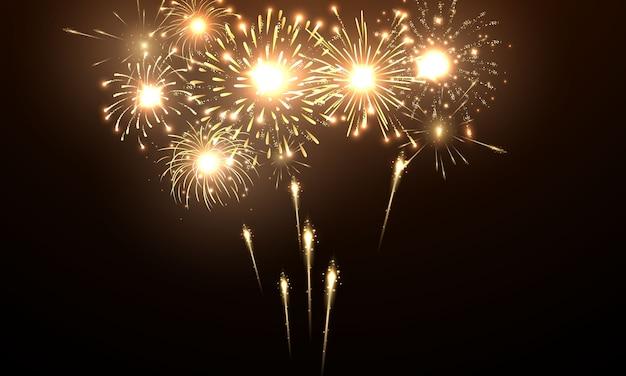 Święto Fajerwerków I Bożego Narodzenia Premium Wektorów