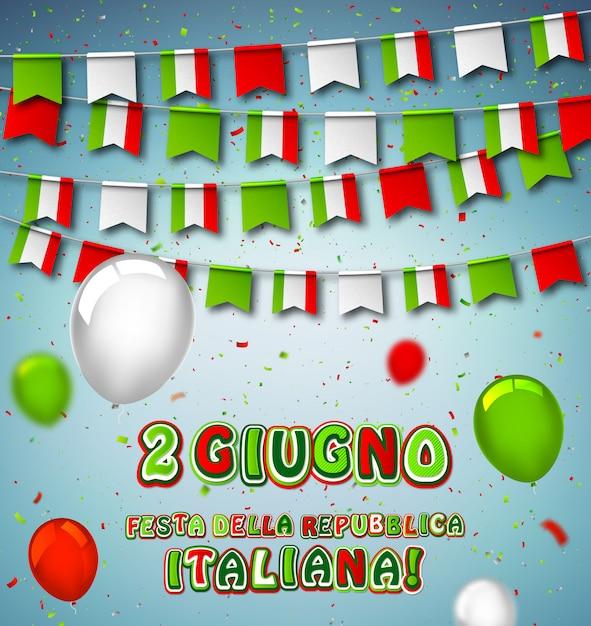 Święto narodowe republiki włoskiej Premium Wektorów