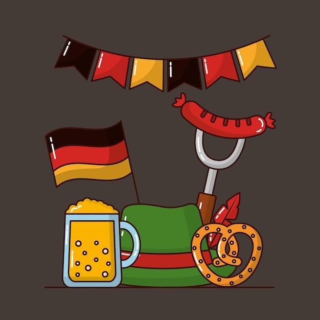 Święto Oktoberfest W Niemczech Darmowych Wektorów