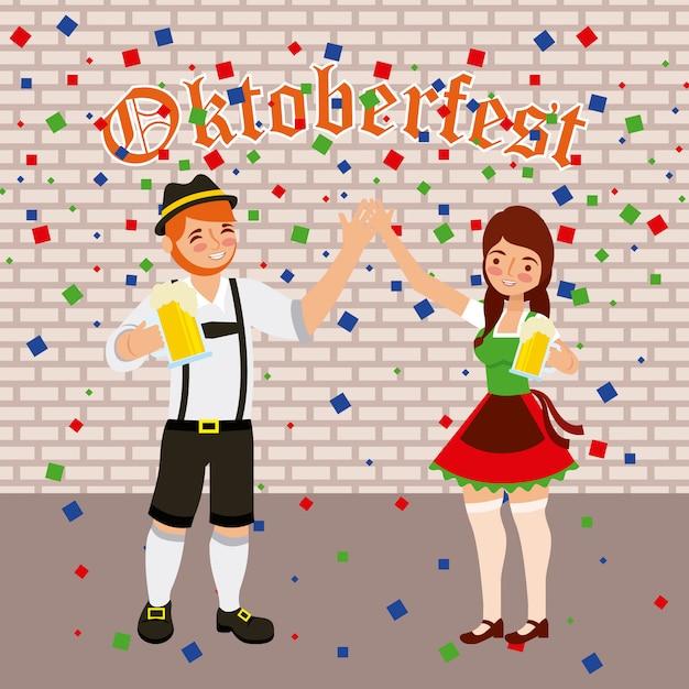 Święto Oktoberfest Darmowych Wektorów