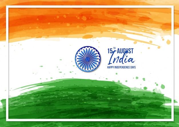 Święto szczęśliwego dnia niepodległości indii - 15 sierpnia Premium Wektorów