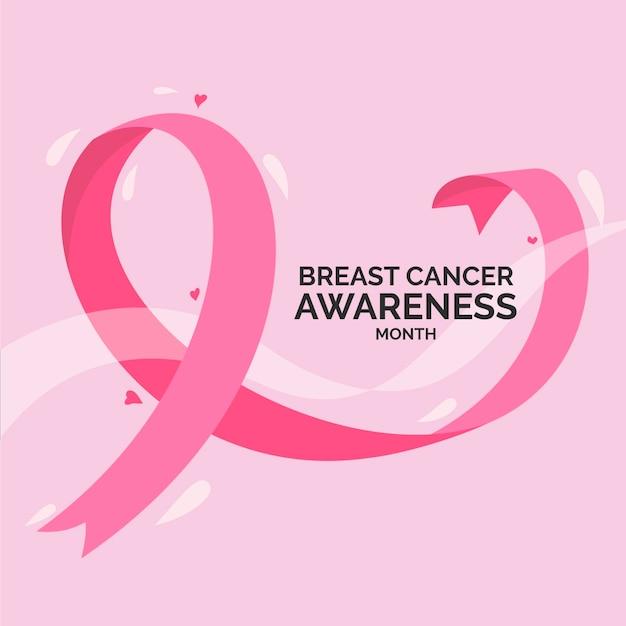 Świętujemy Miesiąc świadomości Raka Piersi Darmowych Wektorów