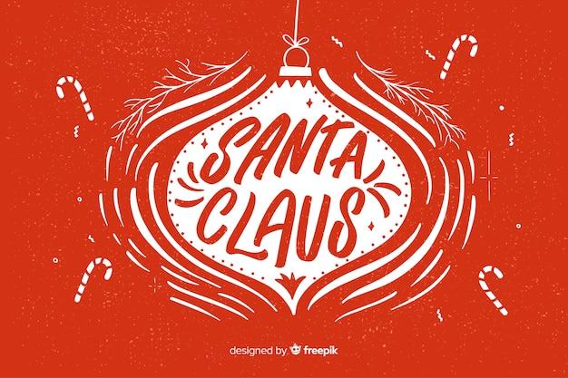 Święty Mikołaj Napis Napisany W Streszczenie Boże Narodzenie świecie Darmowych Wektorów