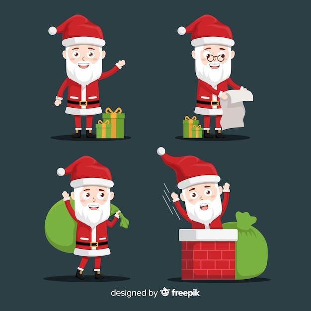 Święty mikołaj z prezentami i niegrzeczną listą Darmowych Wektorów