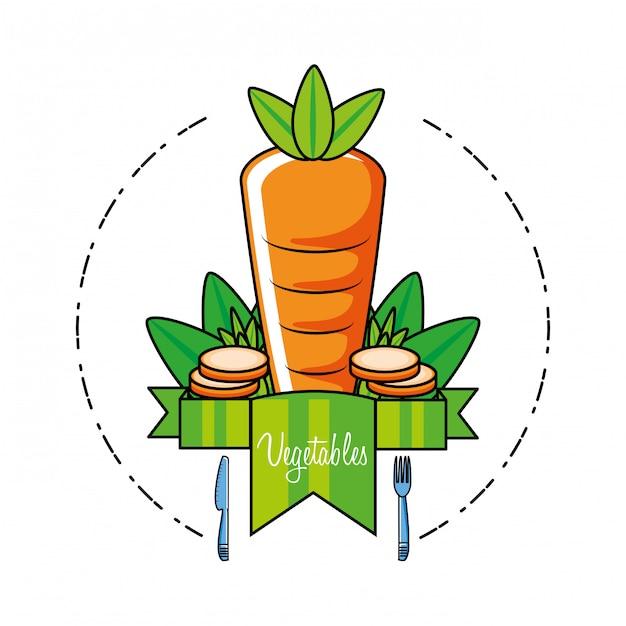 Świeża i pyszna marchewka Premium Wektorów
