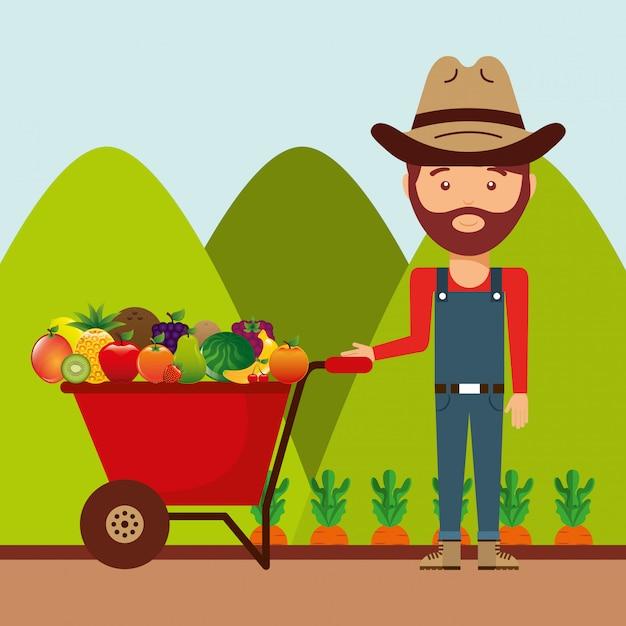 Świeże Produkty Rolne Premium Wektorów